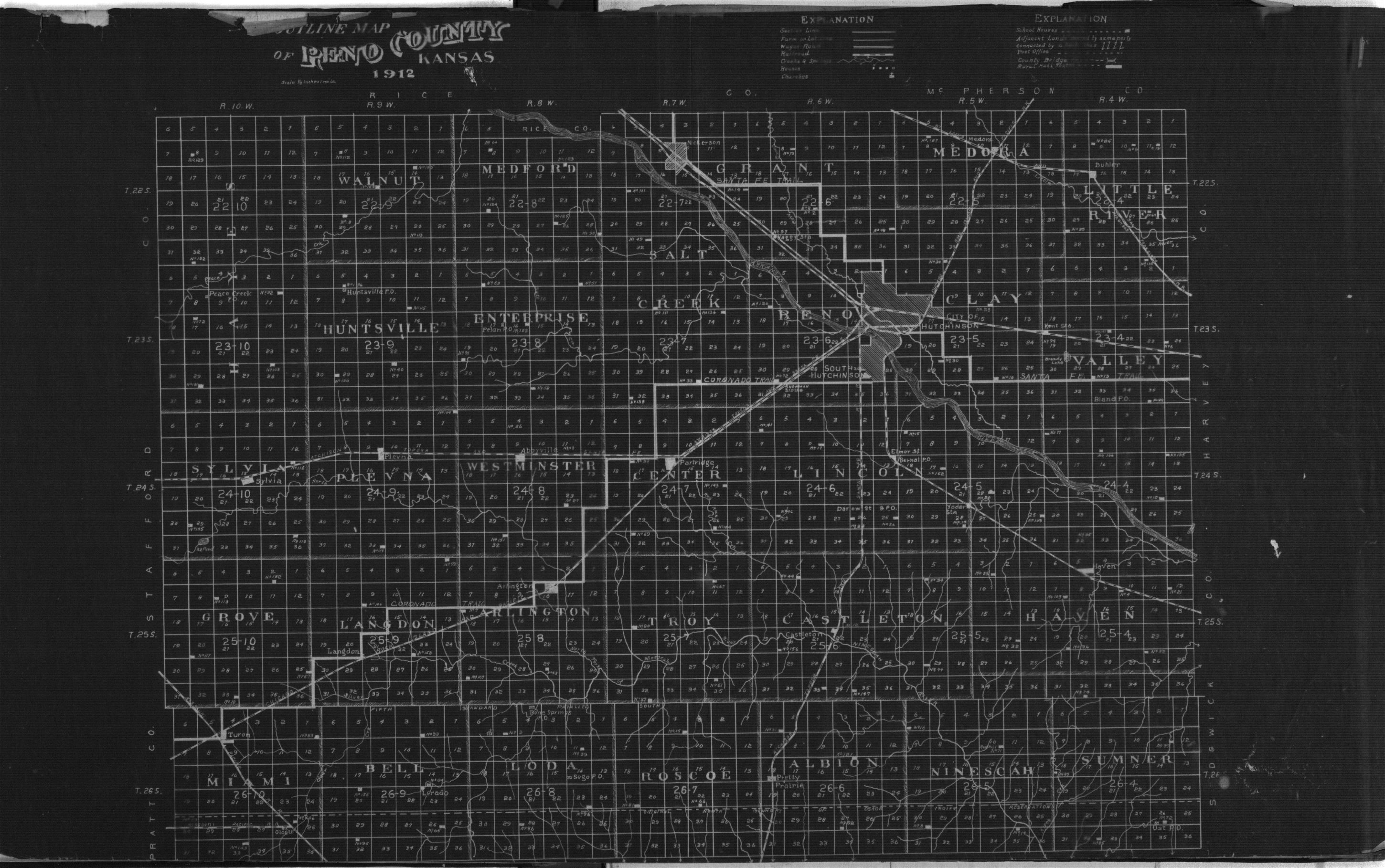 Plat book of Reno County, Kansas - Outline Map of Reno Co