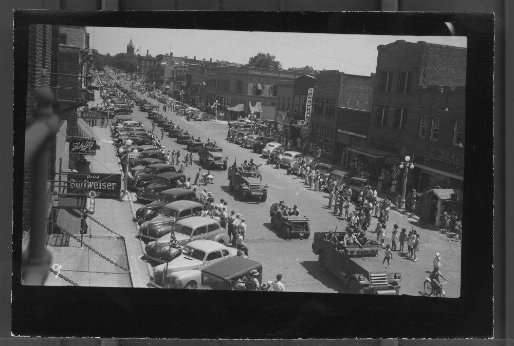 Military parade, Marysville, Kansas