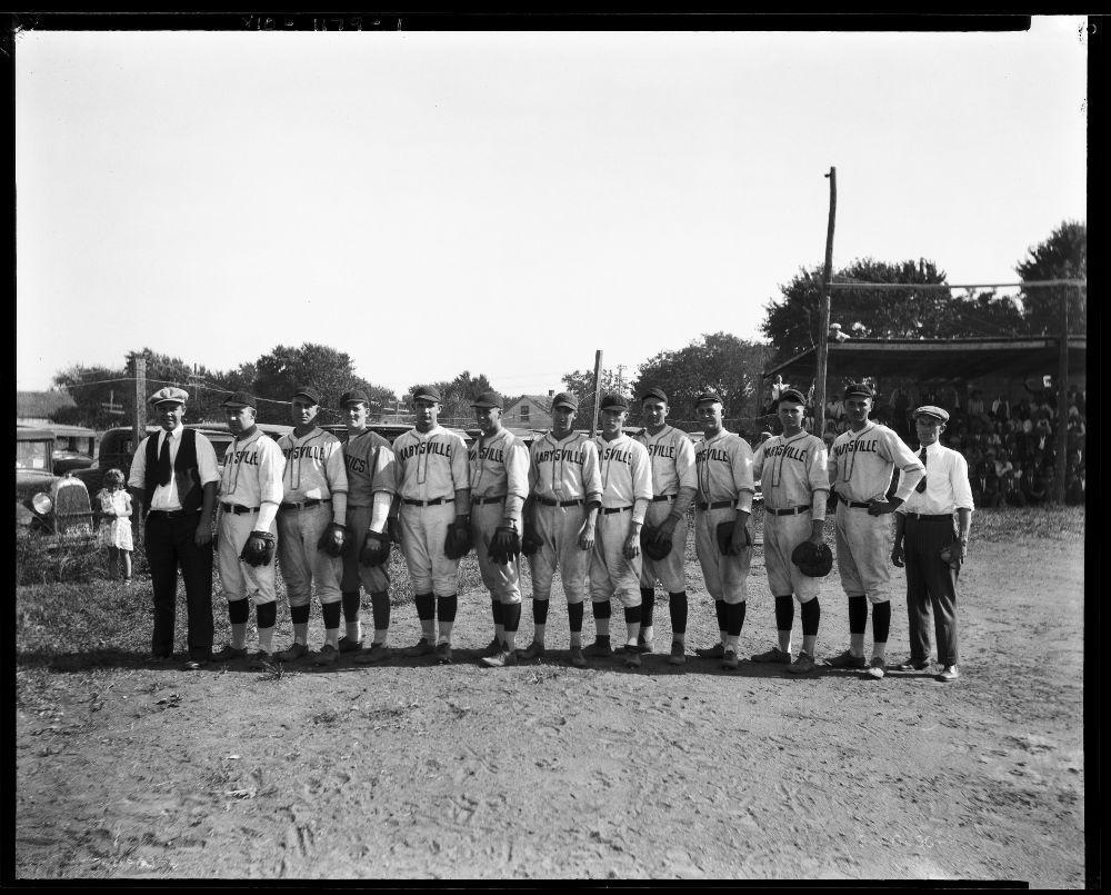 Baseball team, Marysville, Kansas