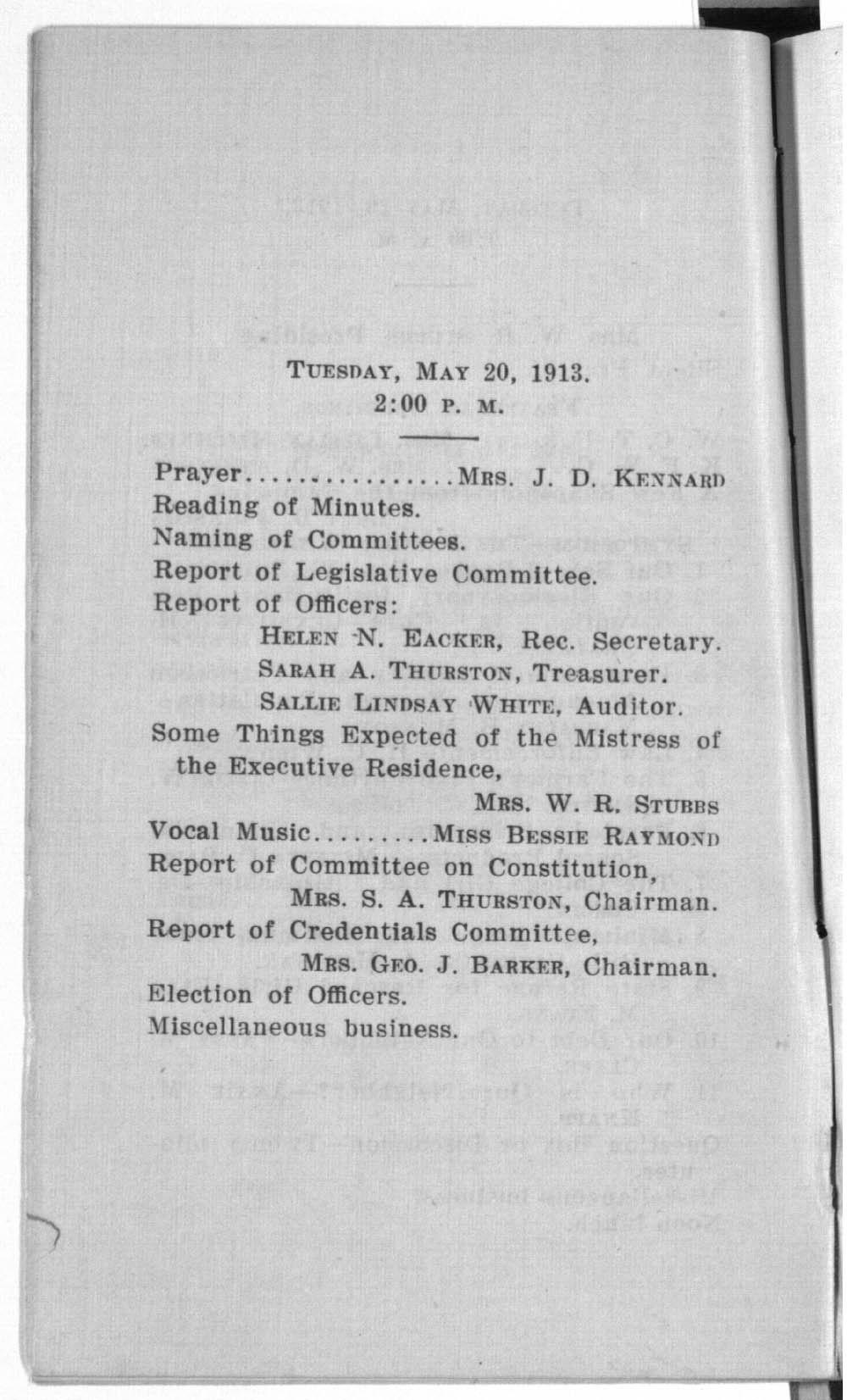 Kansas Equal Suffrage Association thirtieth annual convention - 7