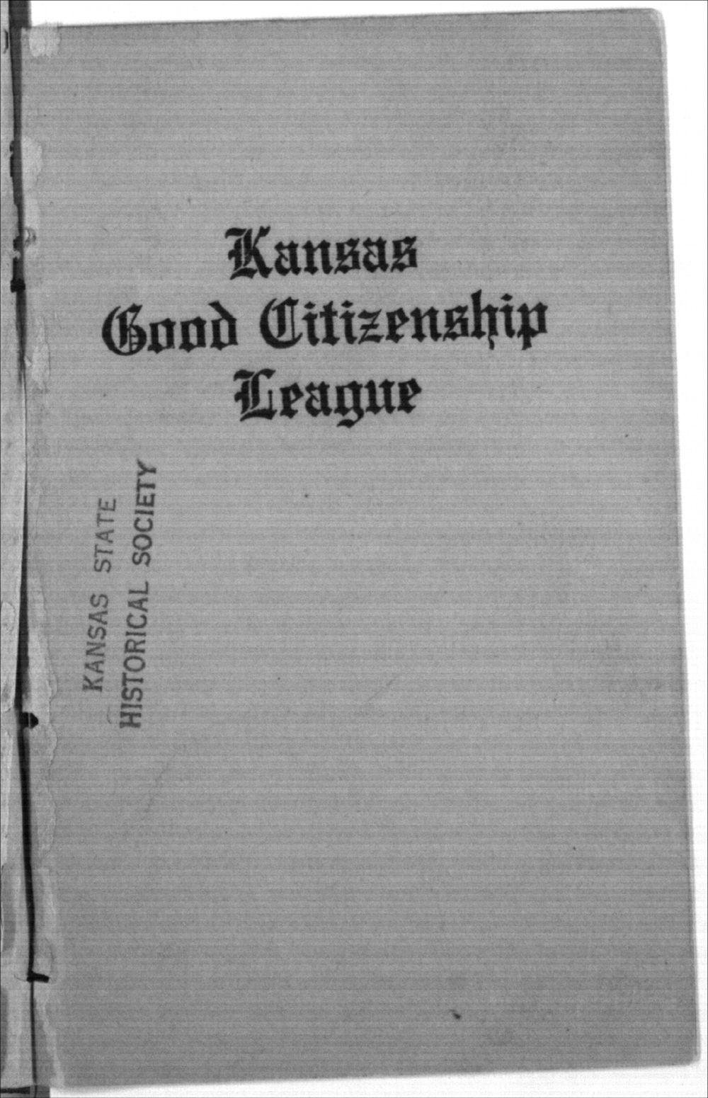 Kansas Good Citizenship League, Inter-State Suffrage Banquet - Front Cover