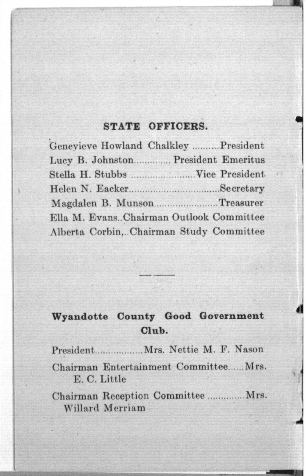 Kansas Good Citizenship League, Inter-State Suffrage Banquet - 5