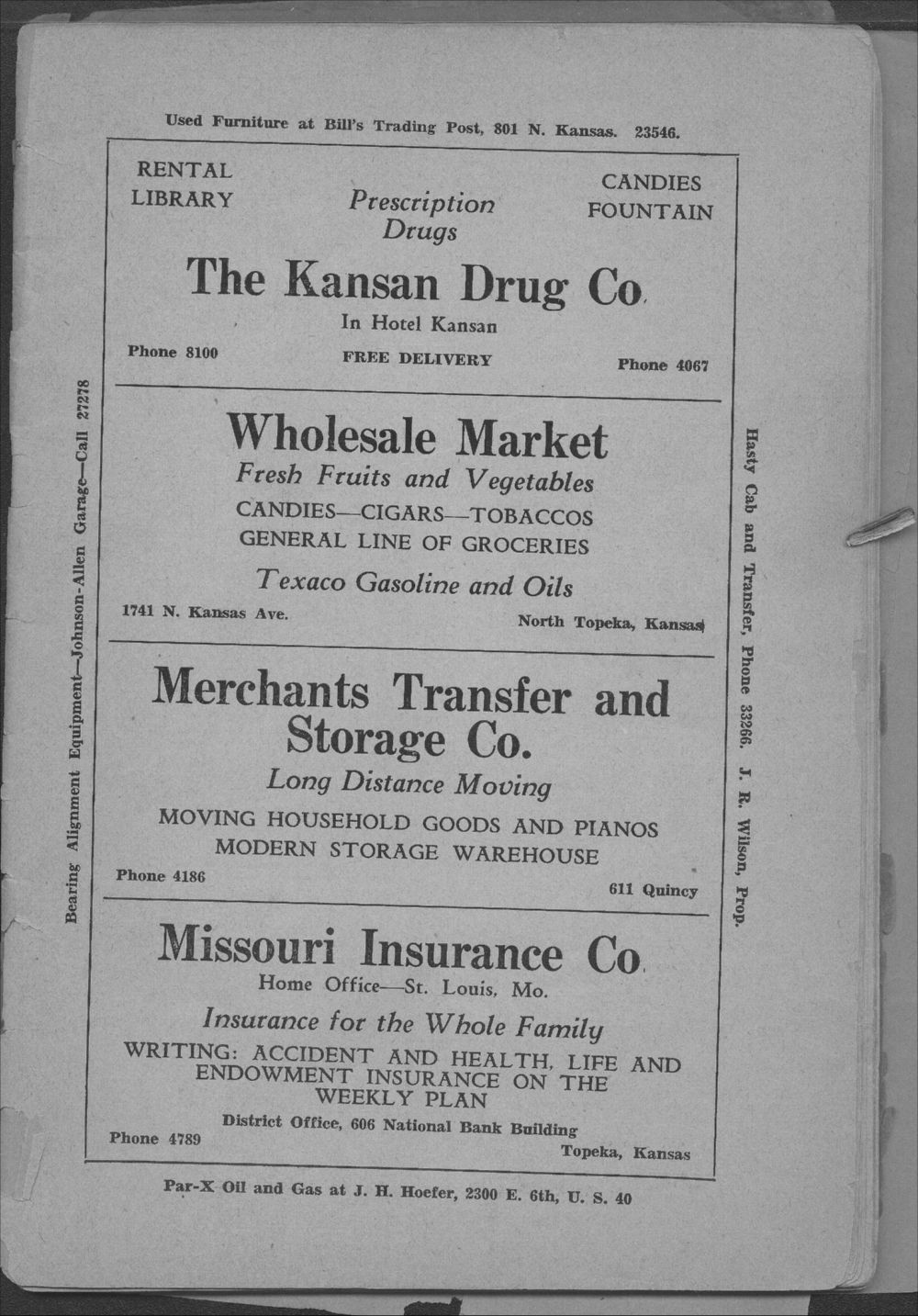 Colored Directory, Topeka, Kansas - 5