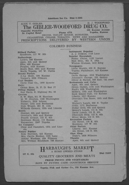 Colored Directory, Topeka, Kansas - 6