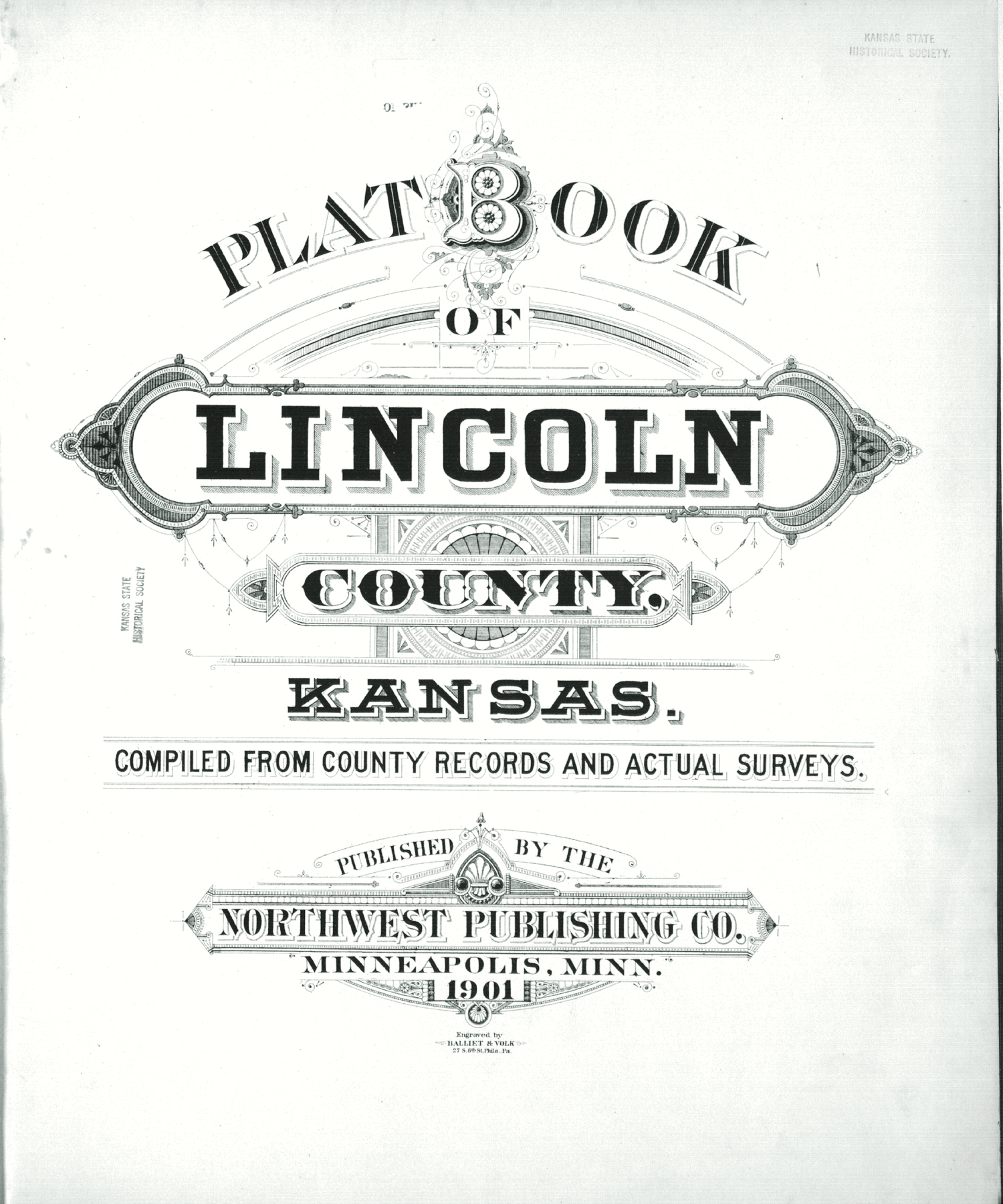Plat book of Lincoln County, Kansas - Title Page