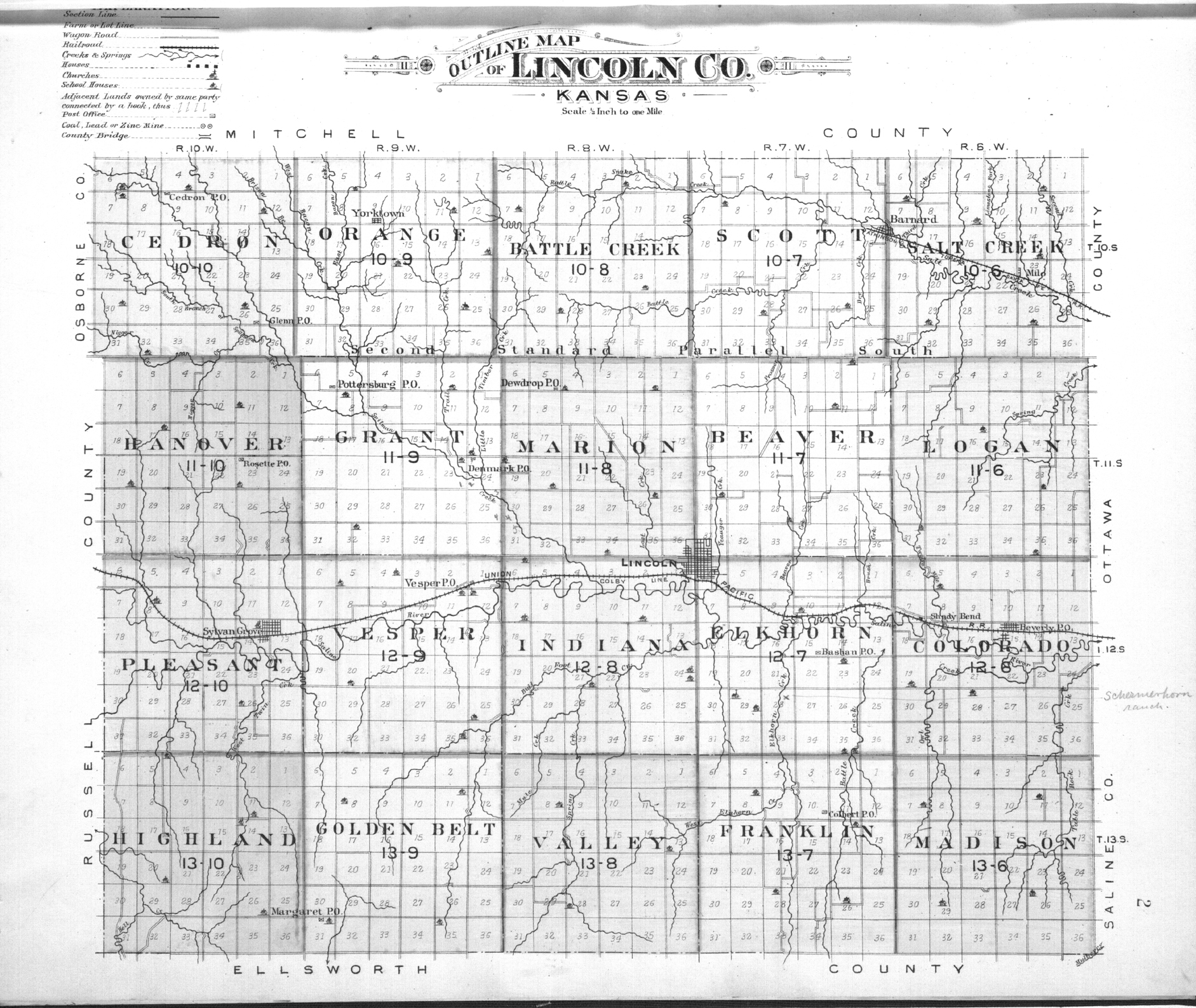 Plat book of Lincoln County, Kansas - 2