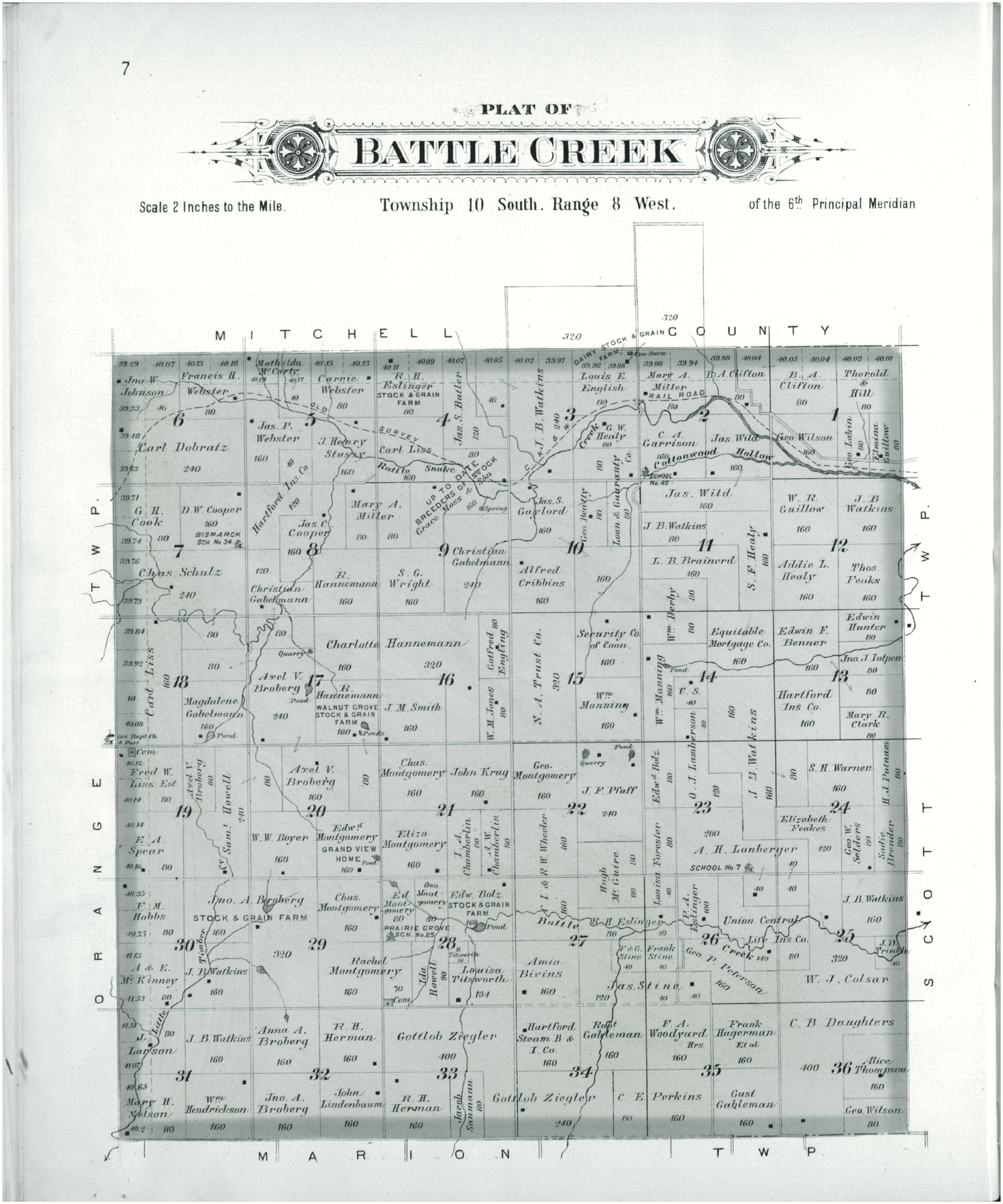 Plat book of Lincoln County, Kansas - 7
