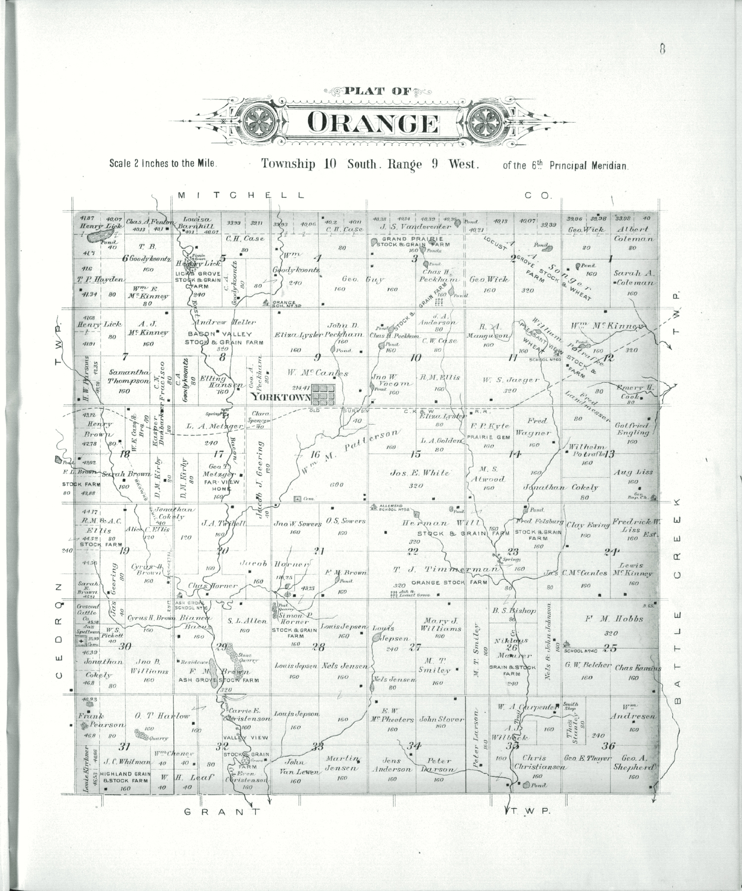 Plat book of Lincoln County, Kansas - 8