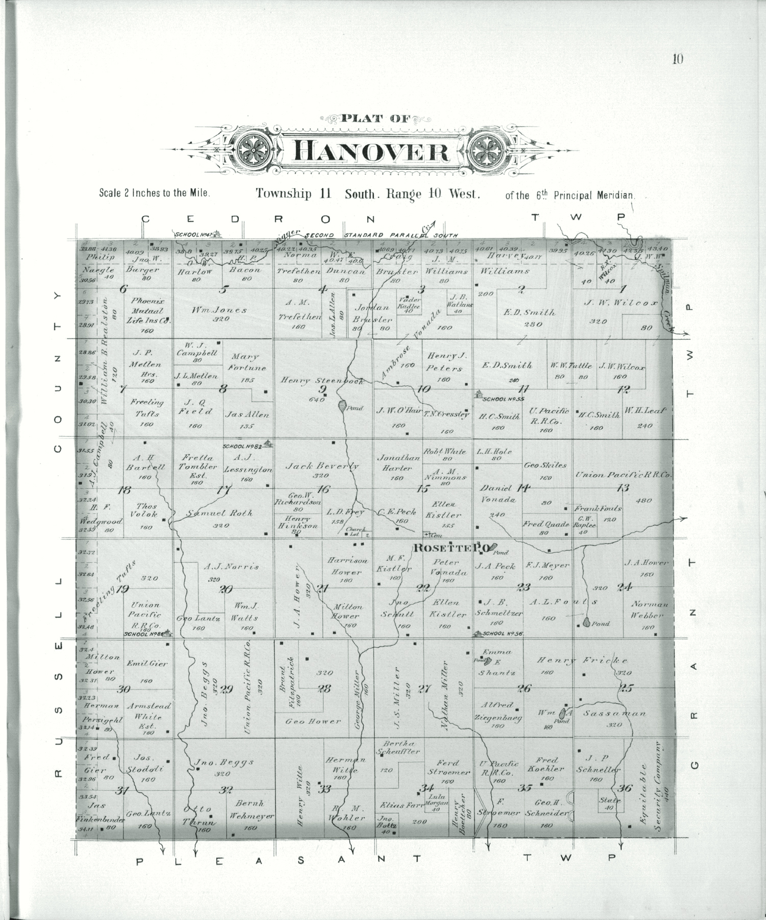 Plat book of Lincoln County, Kansas - 10
