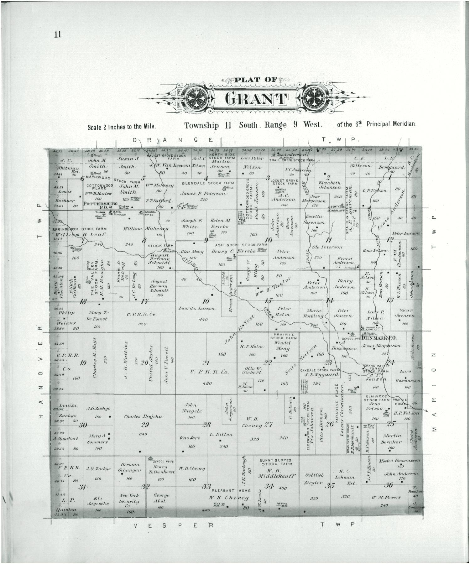Plat book of Lincoln County, Kansas - 11