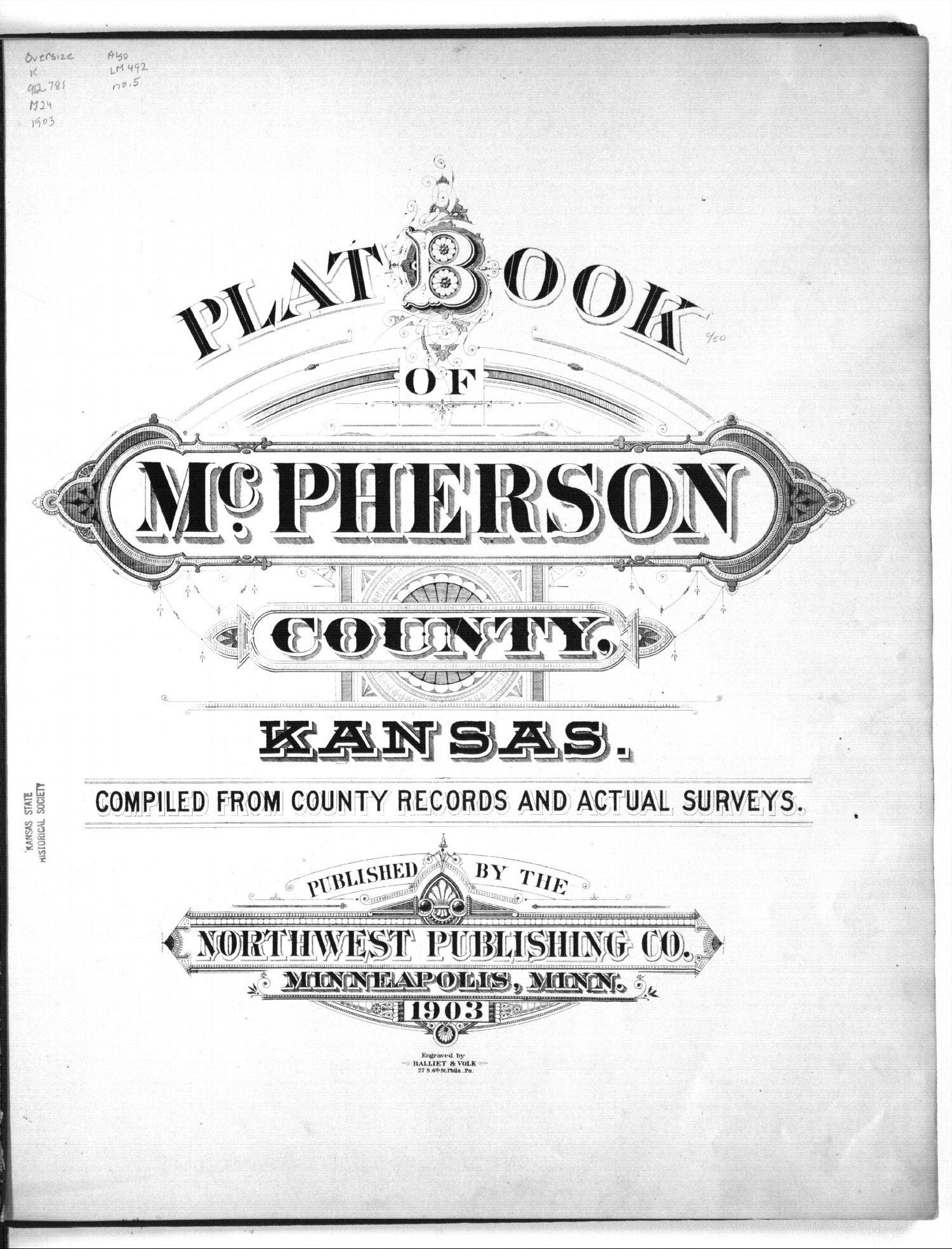 Plat book of McPherson County, Kansas - Title Page