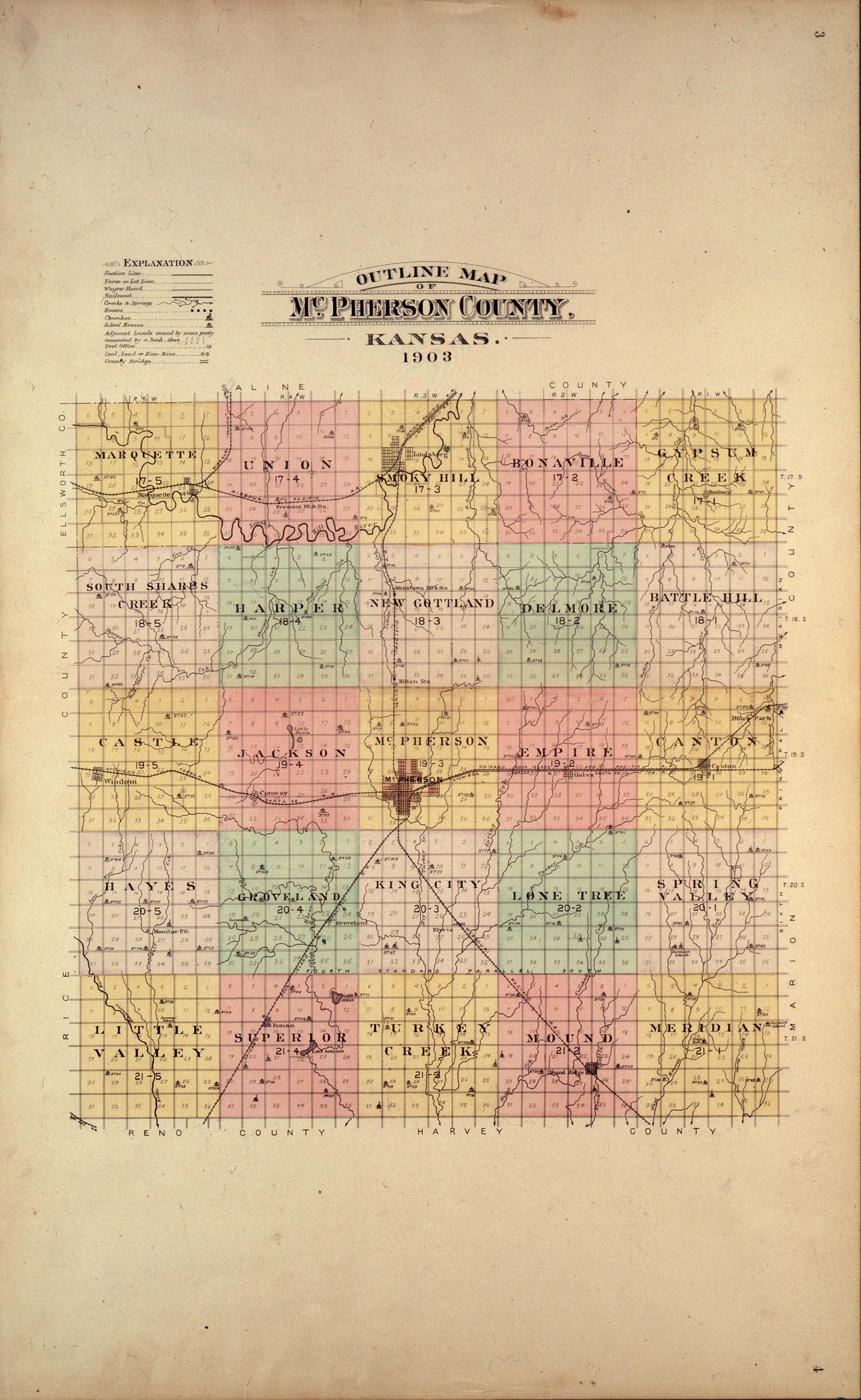Plat book of McPherson County, Kansas - 3 & 4