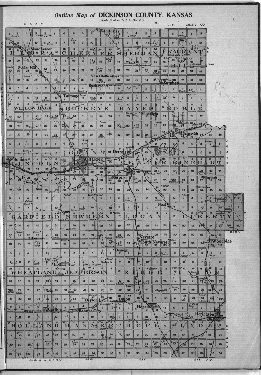 Plat book and complete survey of Dickinson County, Kansas - 3