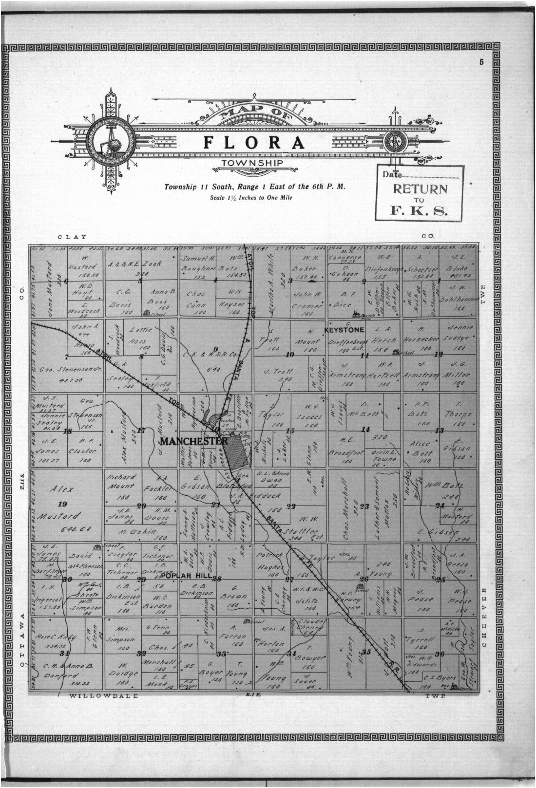 Plat book and complete survey of Dickinson County, Kansas - 5