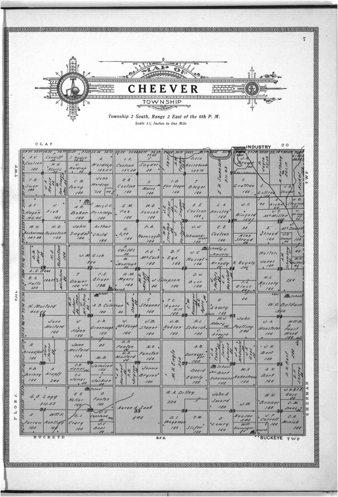 Plat book and complete survey of Dickinson County, Kansas - 7