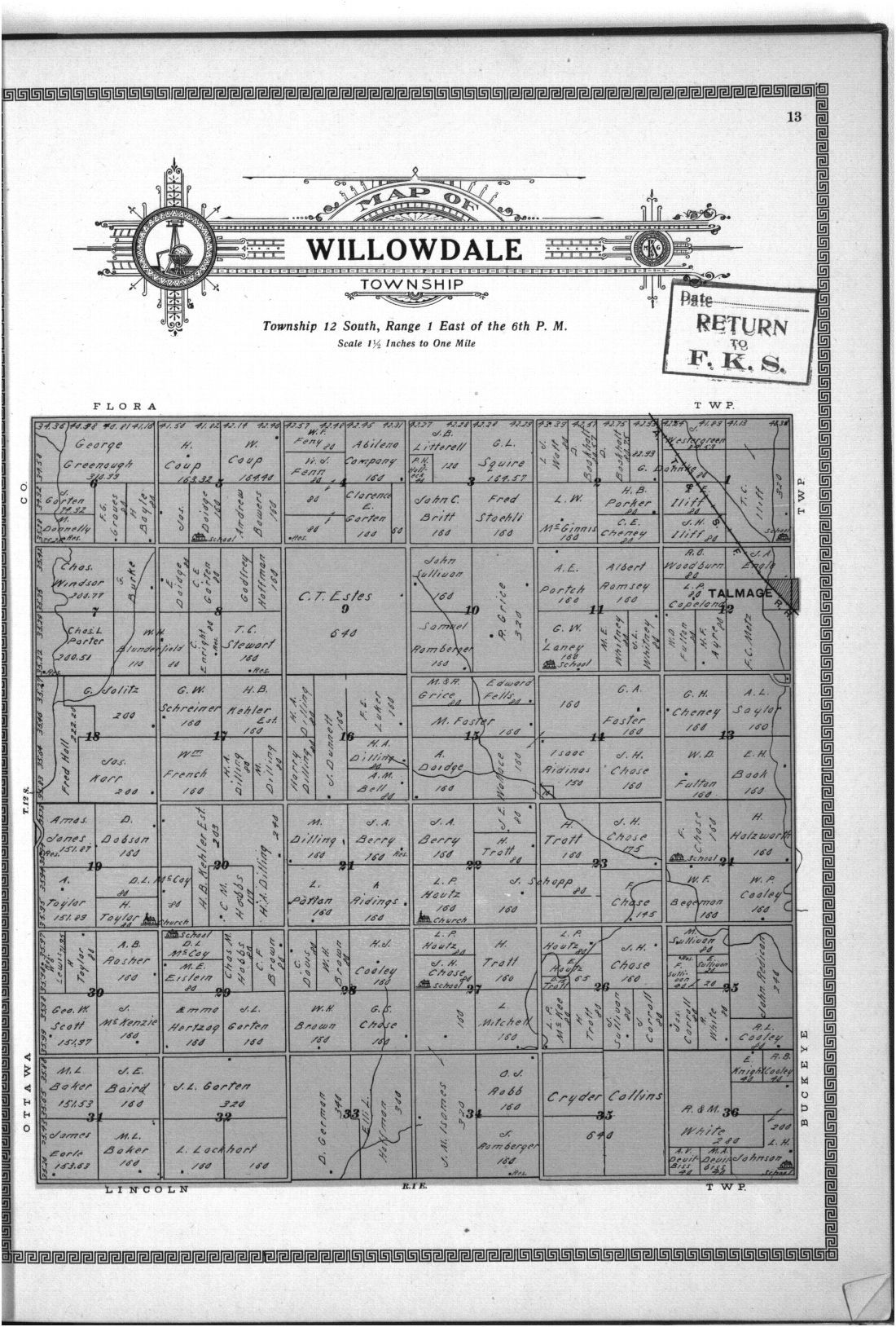 Plat book and complete survey of Dickinson County, Kansas - 13