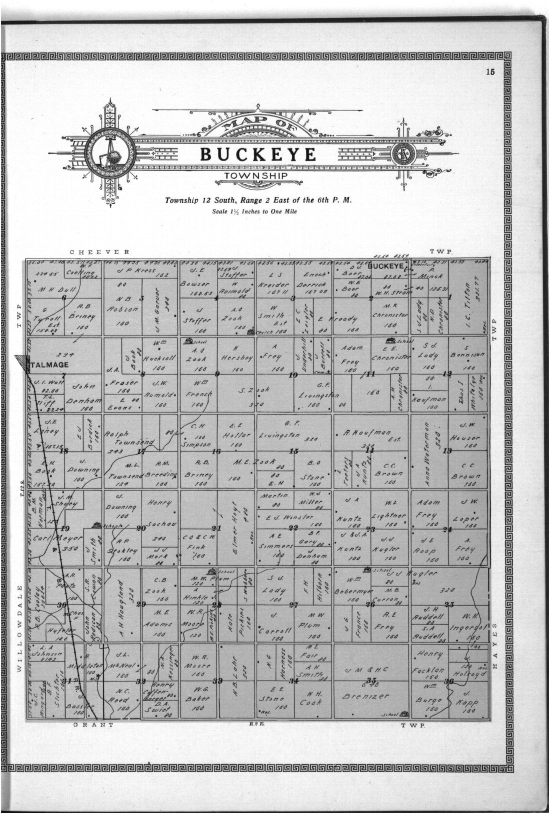 Plat book and complete survey of Dickinson County, Kansas - 15