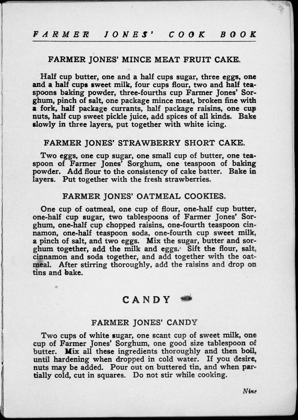 Farmer Jones Cook Book - 10