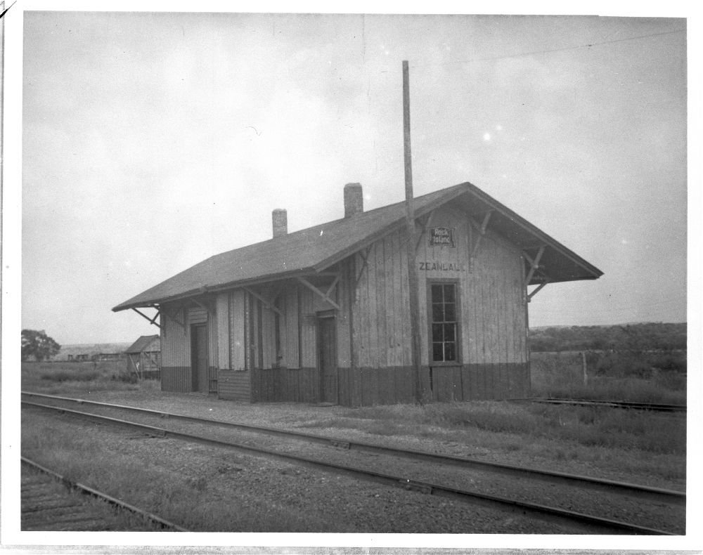 Chicago, Rock Island & Pacific Railroad depot, Zeandale, Kansas