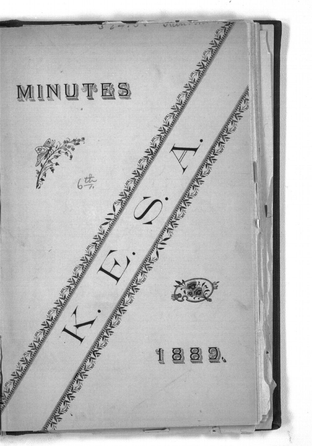 Minutes of the Kansas Equal Suffrage Association at the sixth annual meeting in 1889 - Front Cover