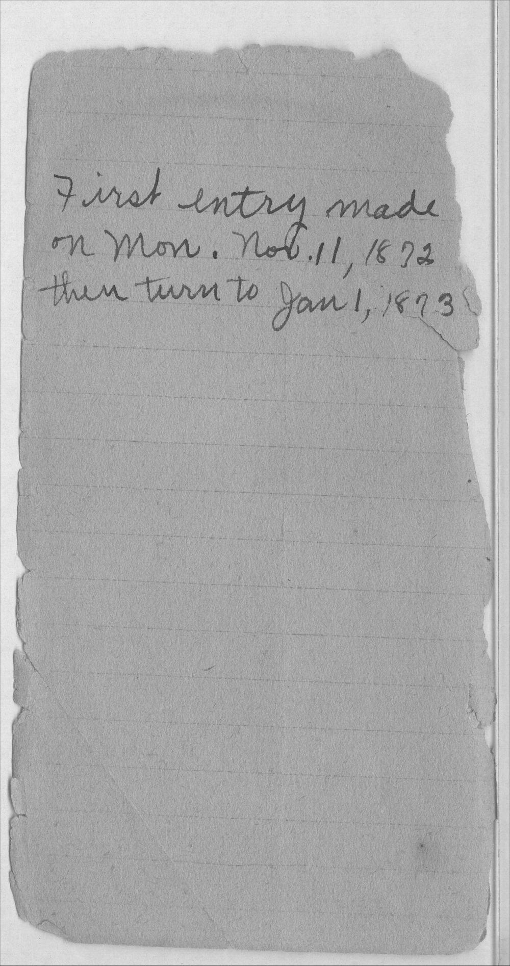 Henry Raymond diary - Explanation