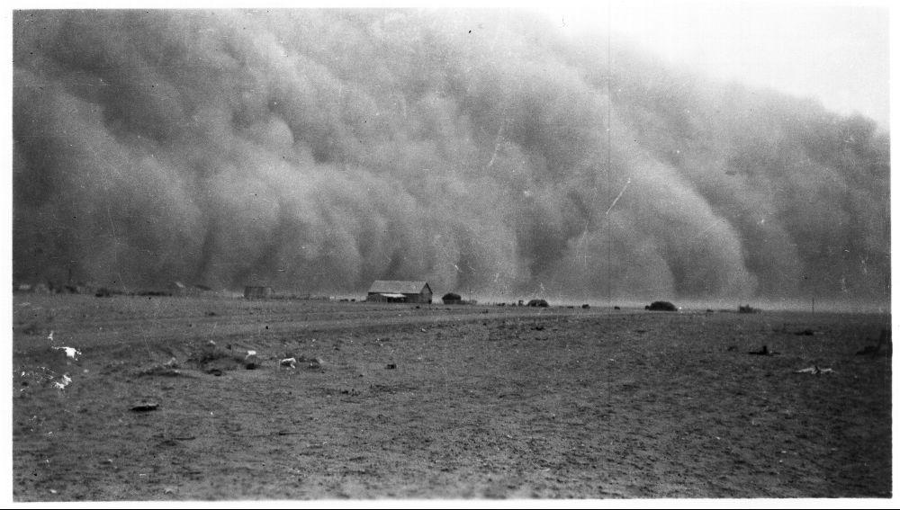Dust storm in Morton County, Kansas