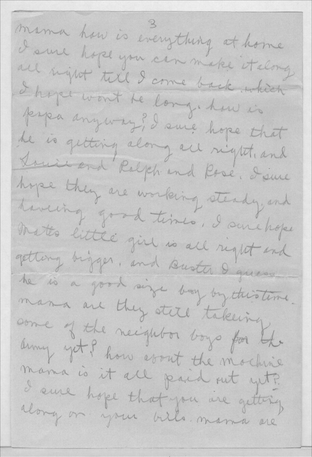 John A. Gersic to Mrs. Joseph Gersic - 3