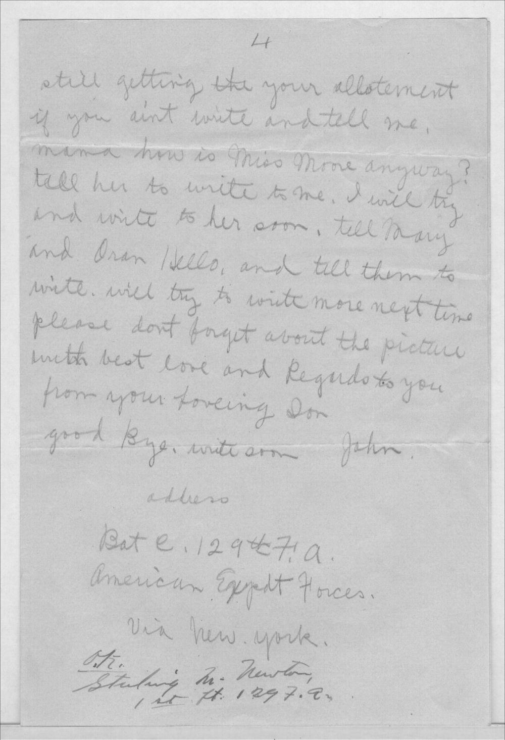 John A. Gersic to Mrs. Joseph Gersic - 4
