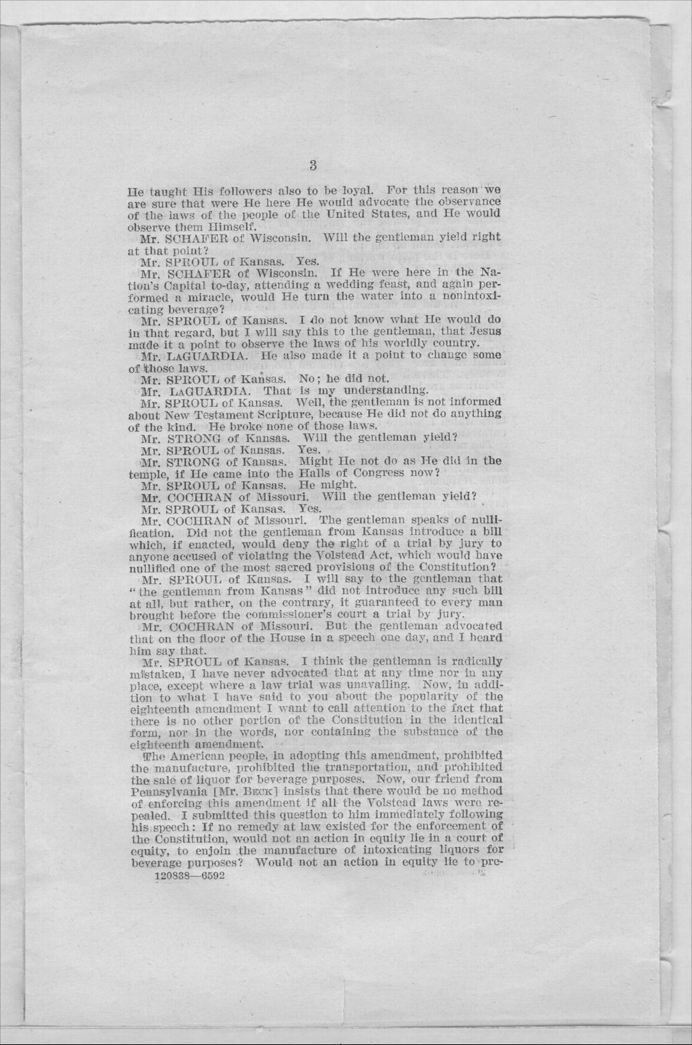 Speech of Hon.W.H. Sproul - 3