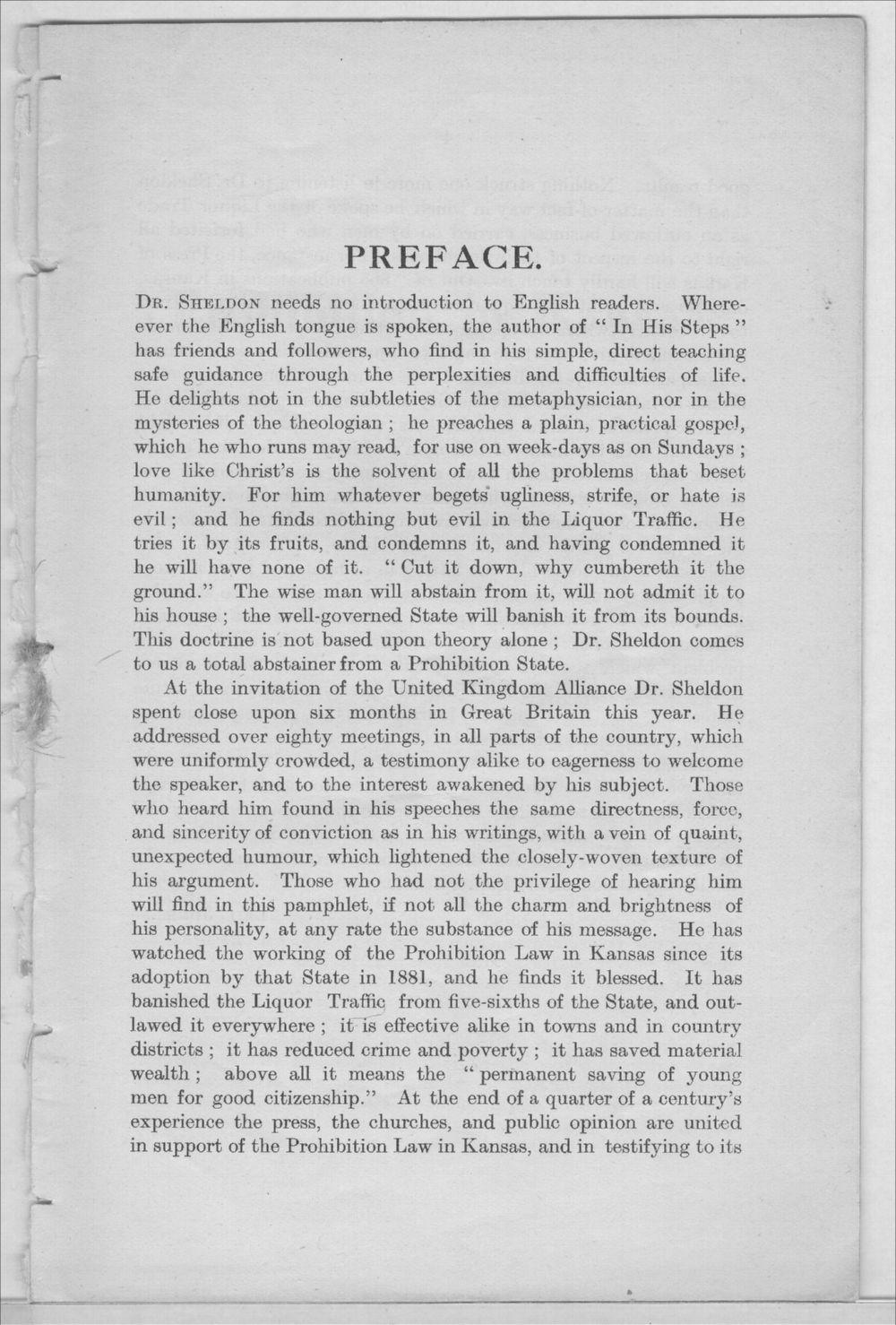 Prohibition in Kansas, U.S.A. - Preface
