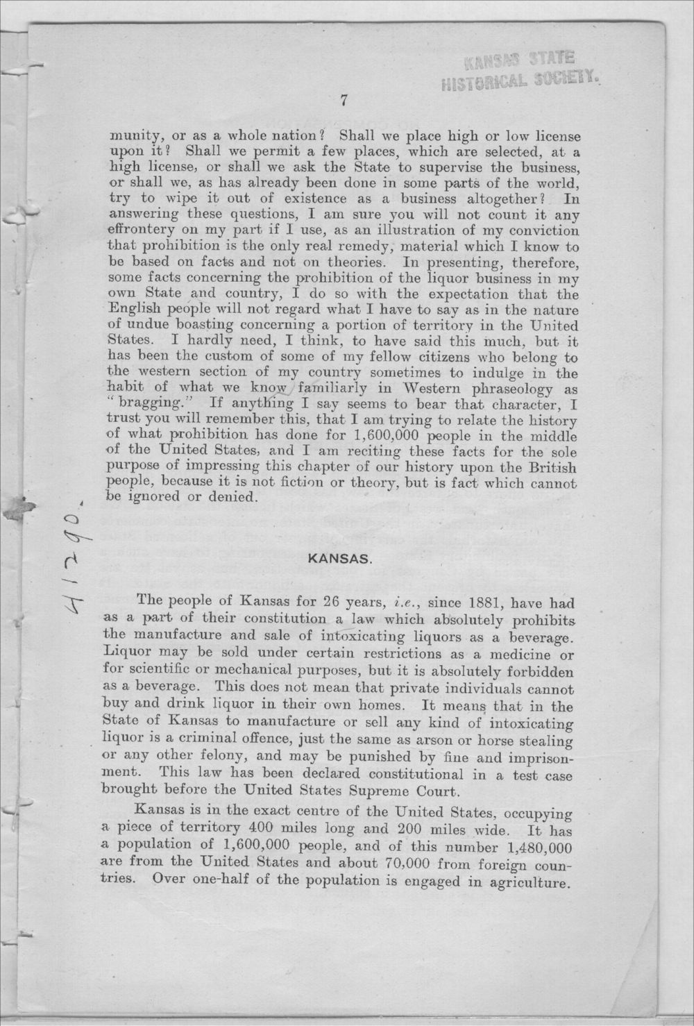 Prohibition in Kansas, U.S.A. - 7
