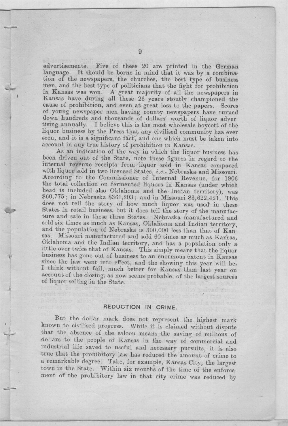 Prohibition in Kansas, U.S.A. - 9