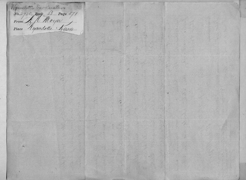 Governor John St. John, Exoduster received correspondence - 5
