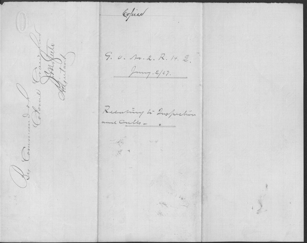 General Order No. 2, 19th Kansas Cavalry - 1