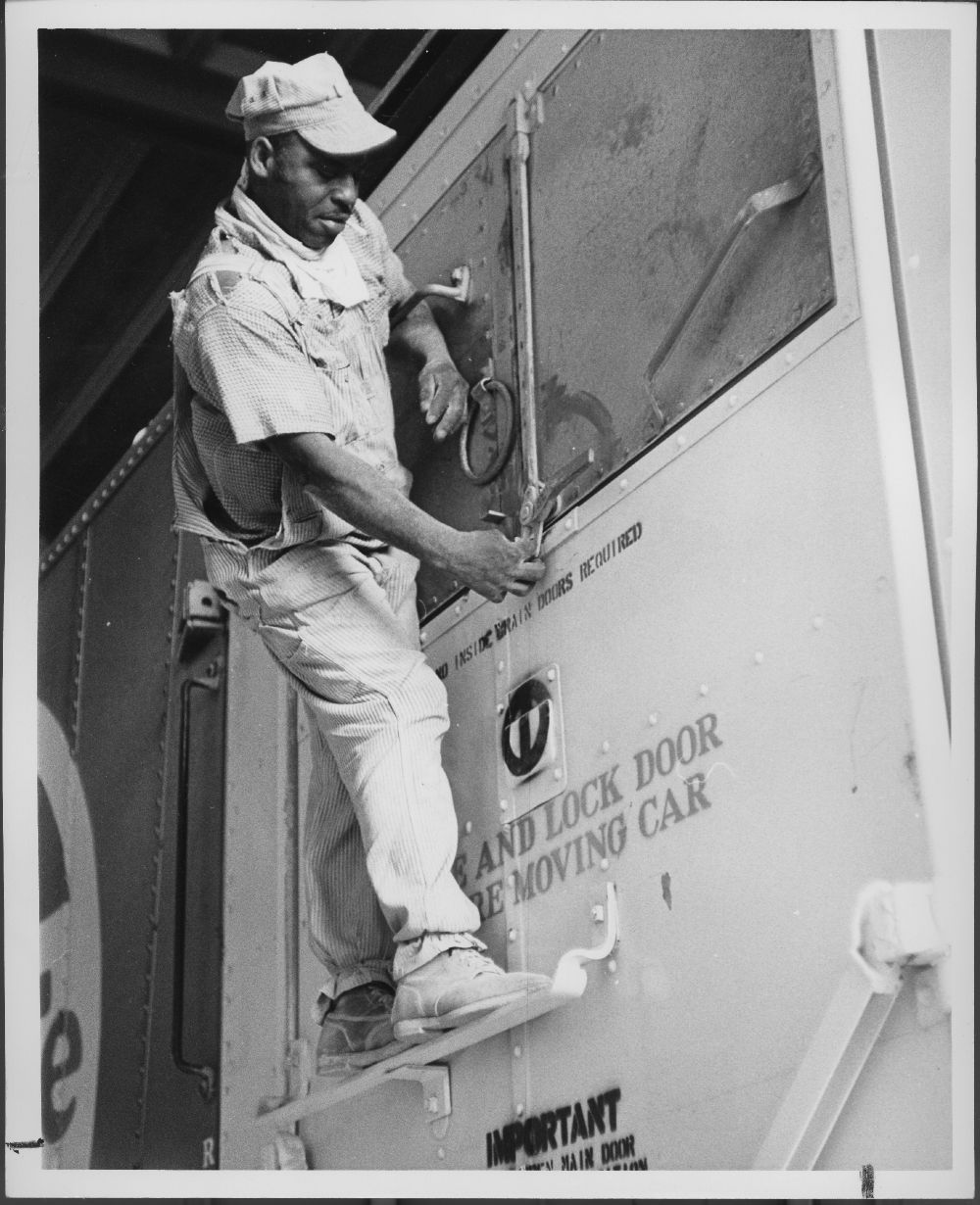 Atchison, Topeka & Santa Fe Railway employee, Cleburne, Texas