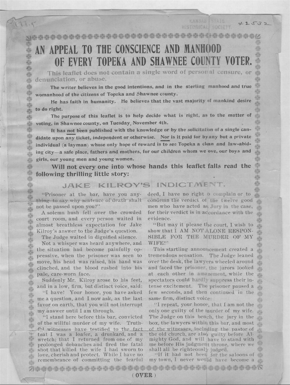 An appeal to the conscience and manhood of every Topeka and Shawnee County, Kansas, voter - 1