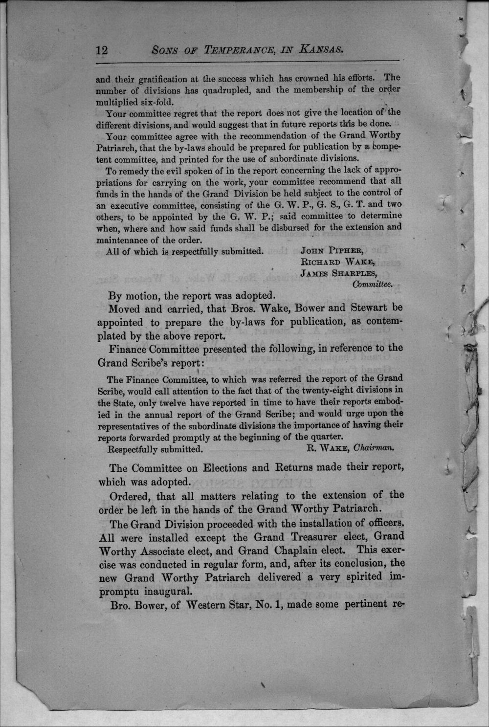 Journal of proceedings of the Grand Division of the Sons of Temperance of Kansas - 12