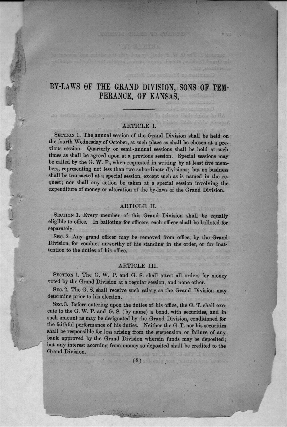 Journal of proceedings of the Grand Division of the Sons of Temperance of Kansas - 3
