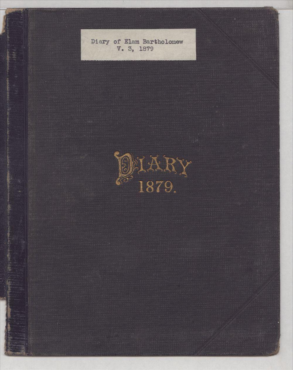 Elam Bartholomew diary - Front Cover
