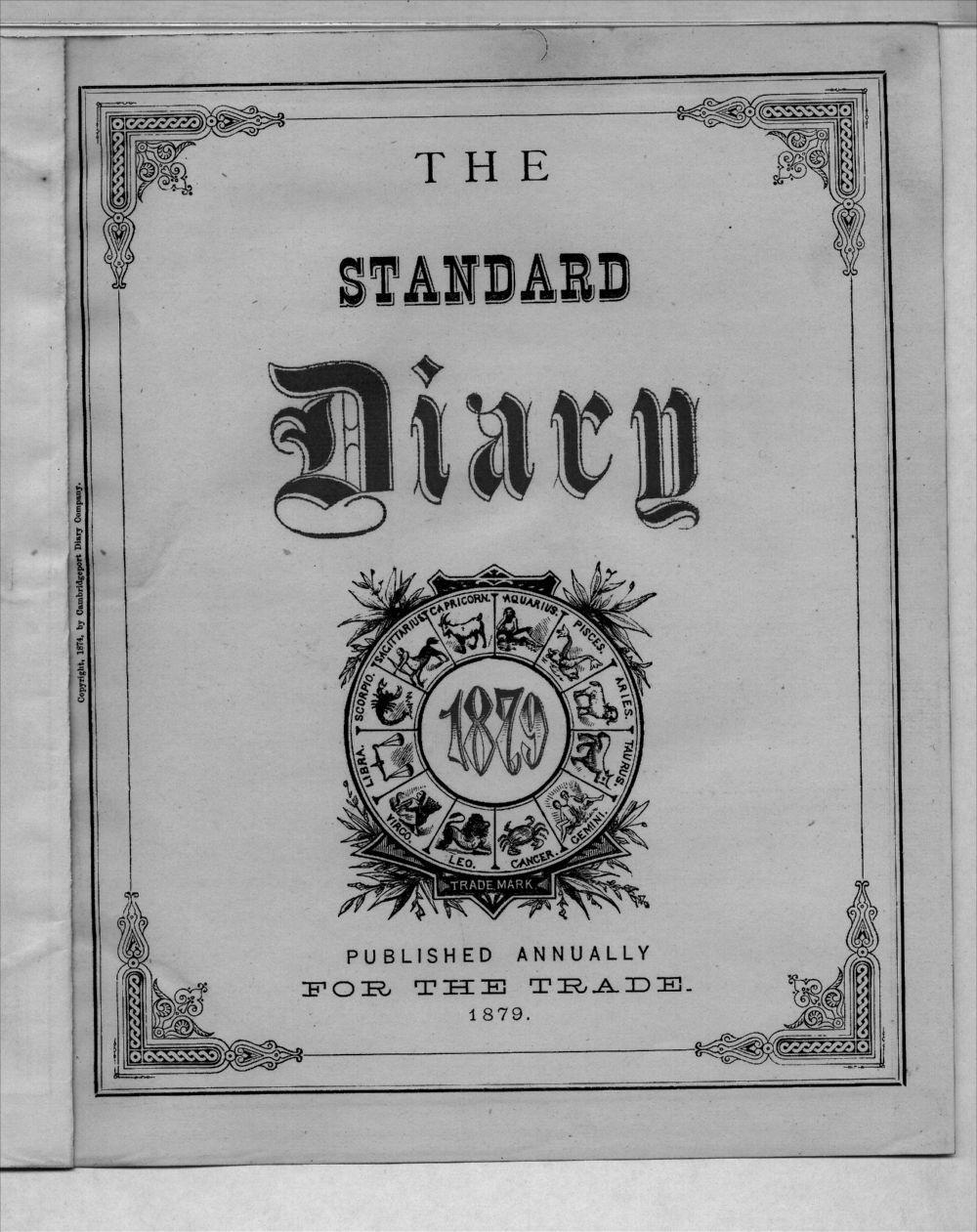 Elam Bartholomew diary - Title Page