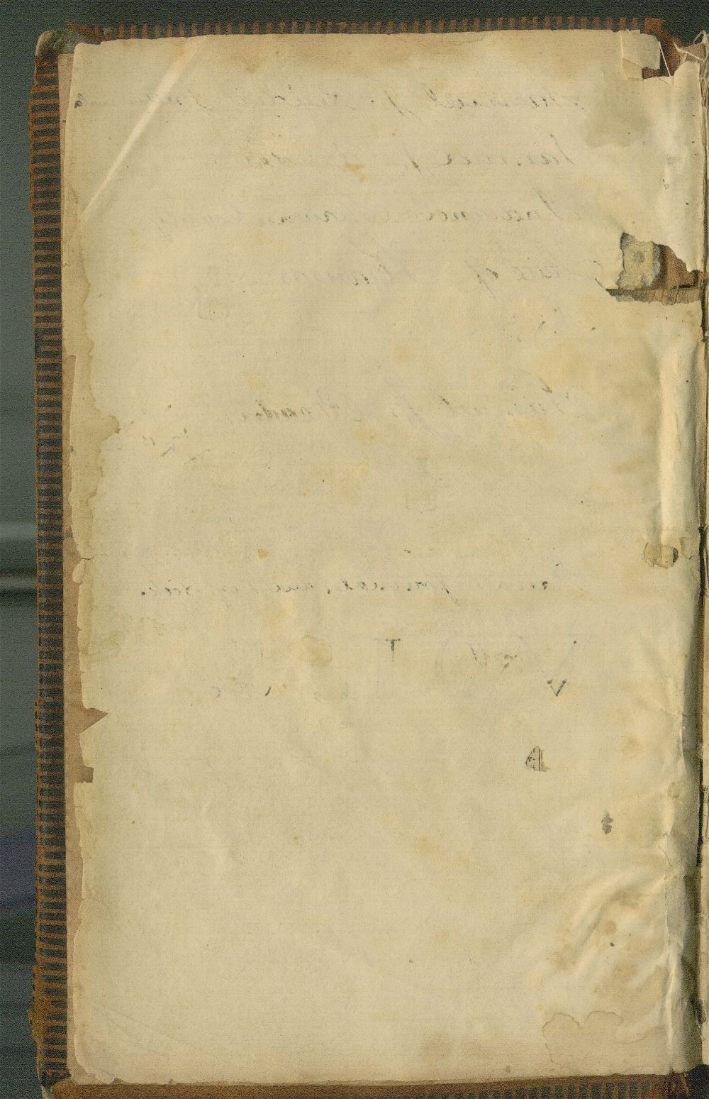 Samuel Reader's diary, volume 5 - blank page