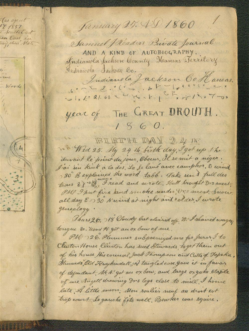 Samuel Reader's diary, volume 5 - 1