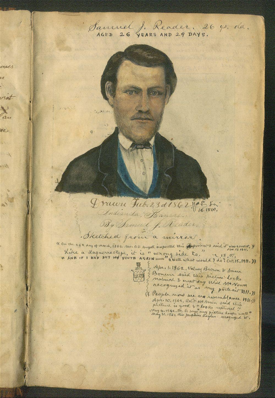 Samuel Reader's diary, volume 5 - self-portrait