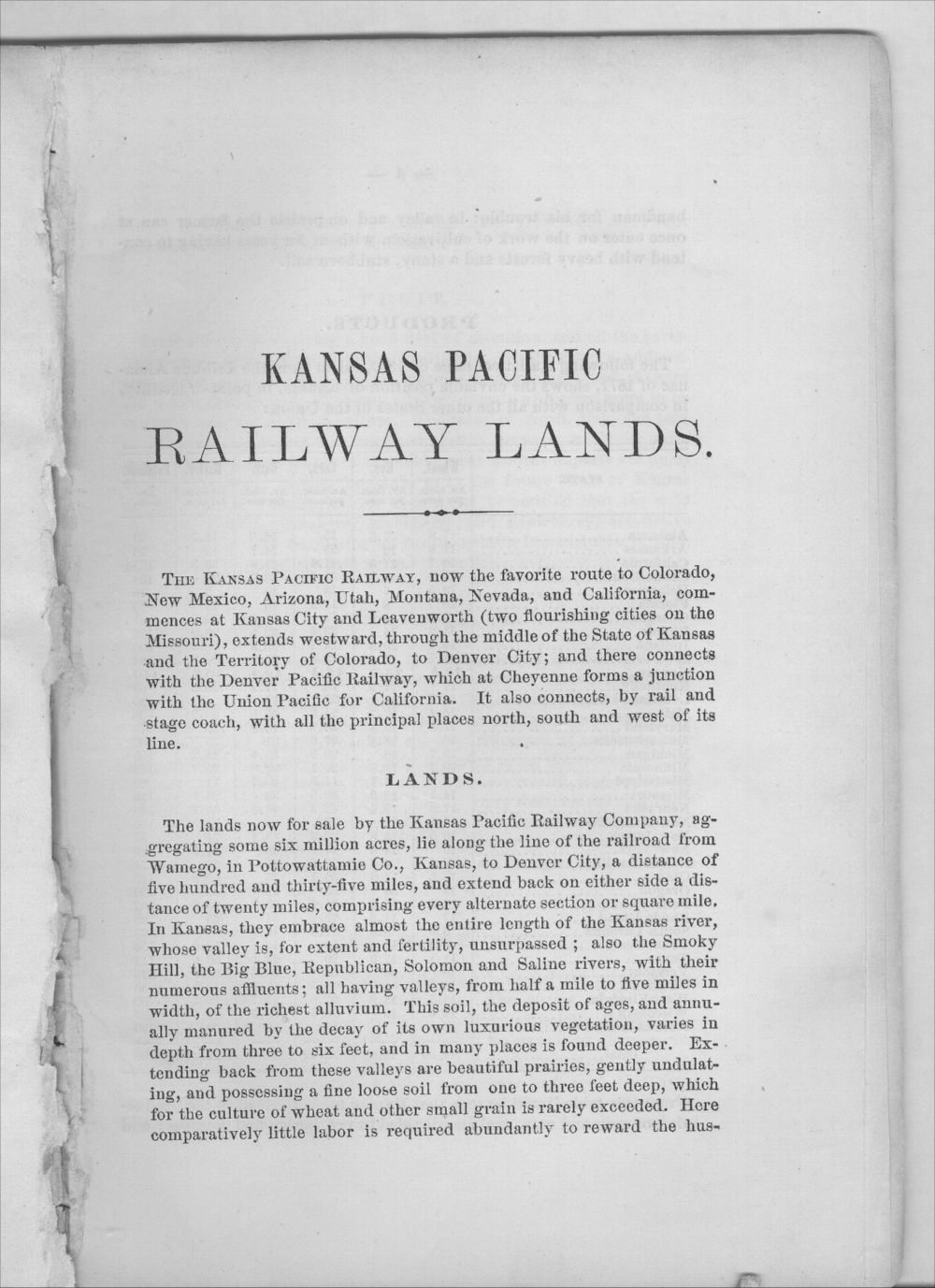 Emigrants' guide to the Kansas Pacific Railway lands - 3