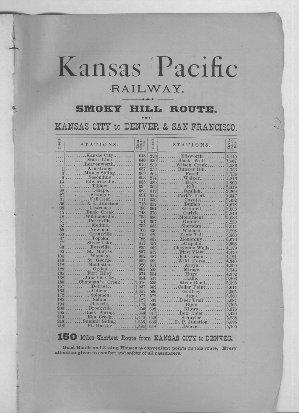 Emigrants' guide to the Kansas Pacific Railway lands - Inside Back Cover