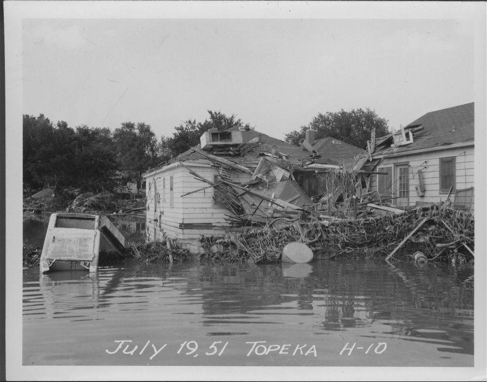 Flood damage in Topeka, Kansas