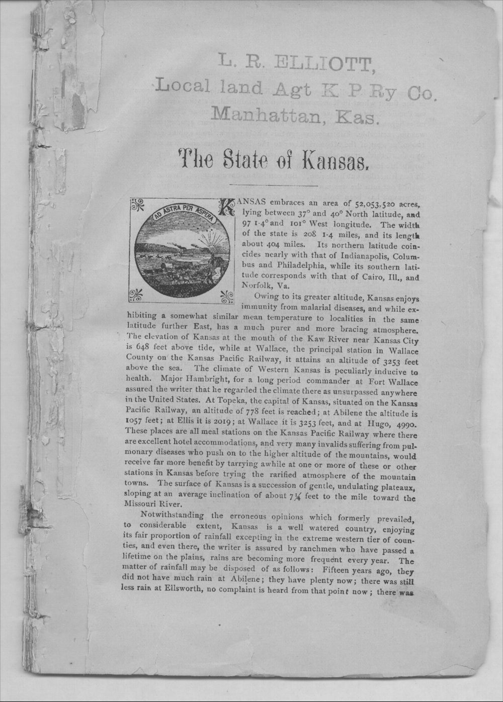 Kansas illustrated.   An accurate and reliable description of this marvelous state for the information of persons seeking homes in the great west - 3