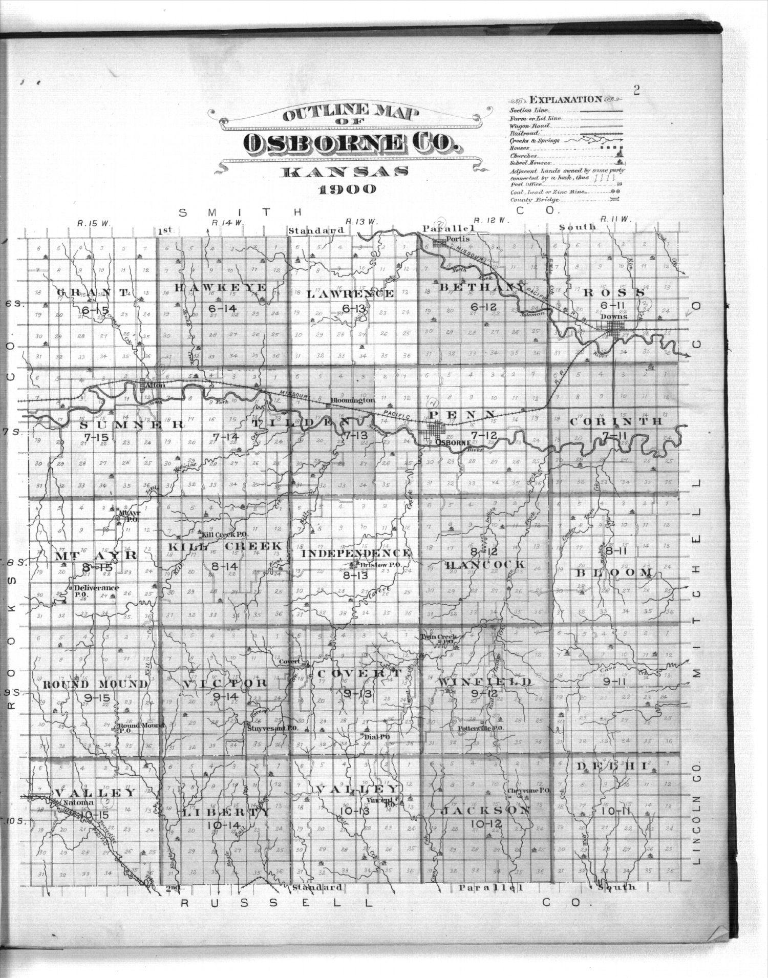 Plat book of Osborne County, Kansas - 2