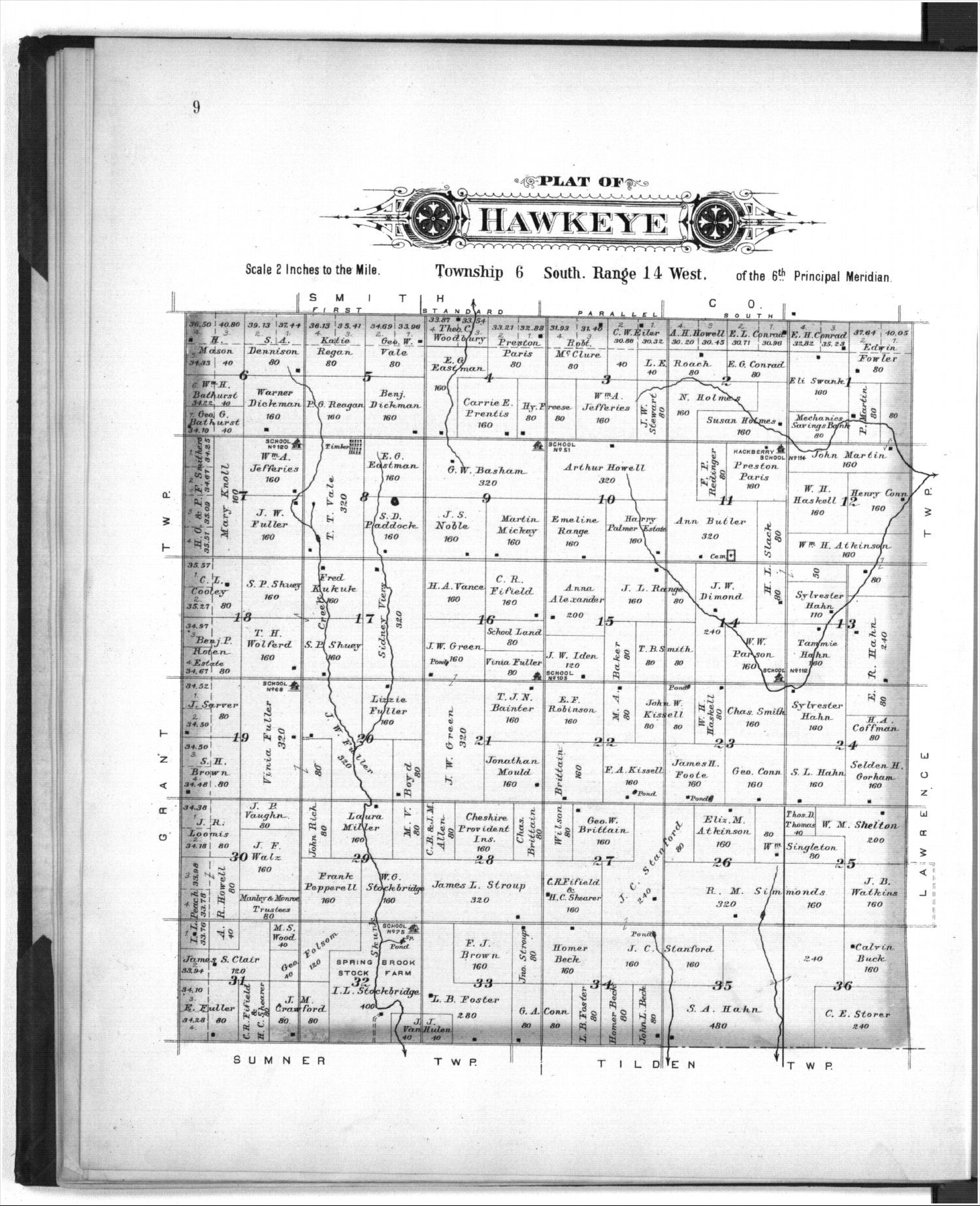 Plat book of Osborne County, Kansas - 9