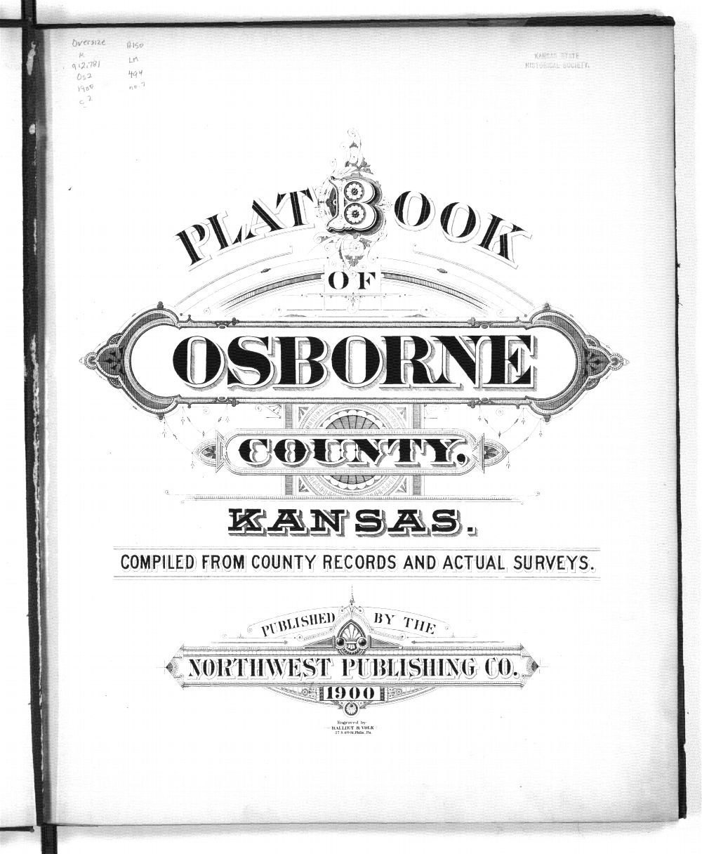 Plat book of Osborne County, Kansas - Title Page